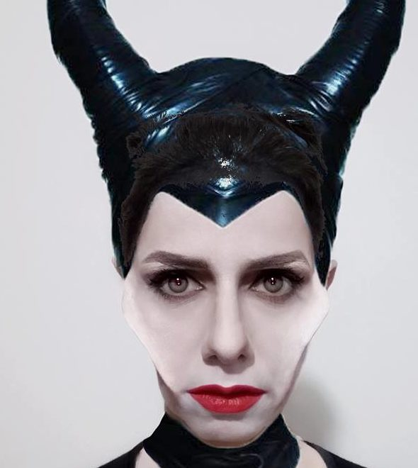 Malefica makeup Halloween