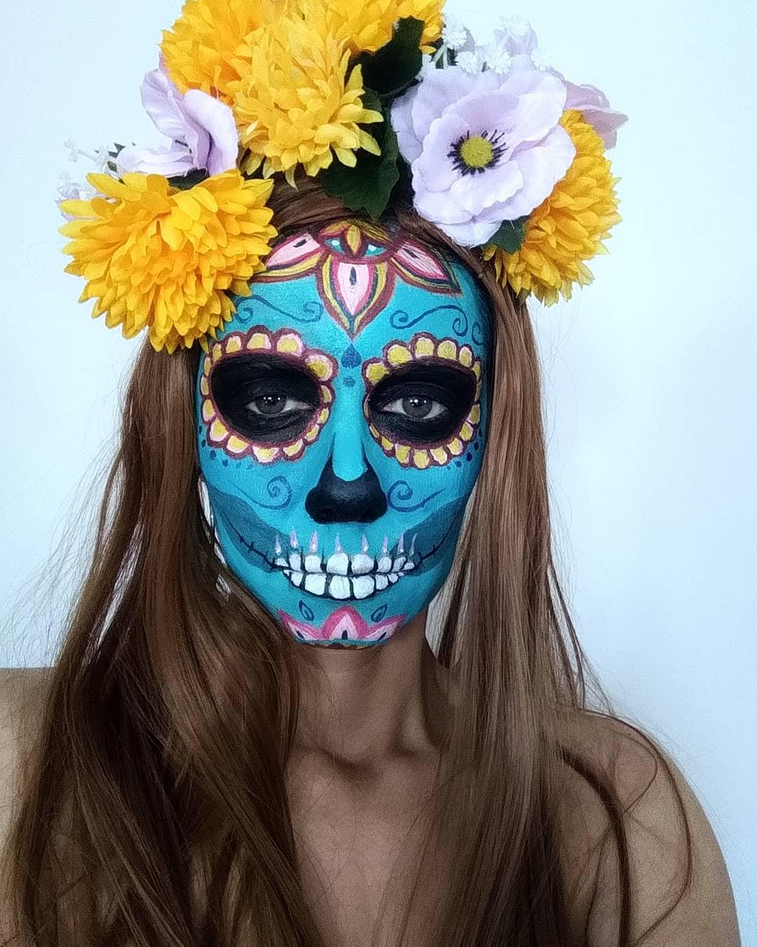 teschio messicano Halloween