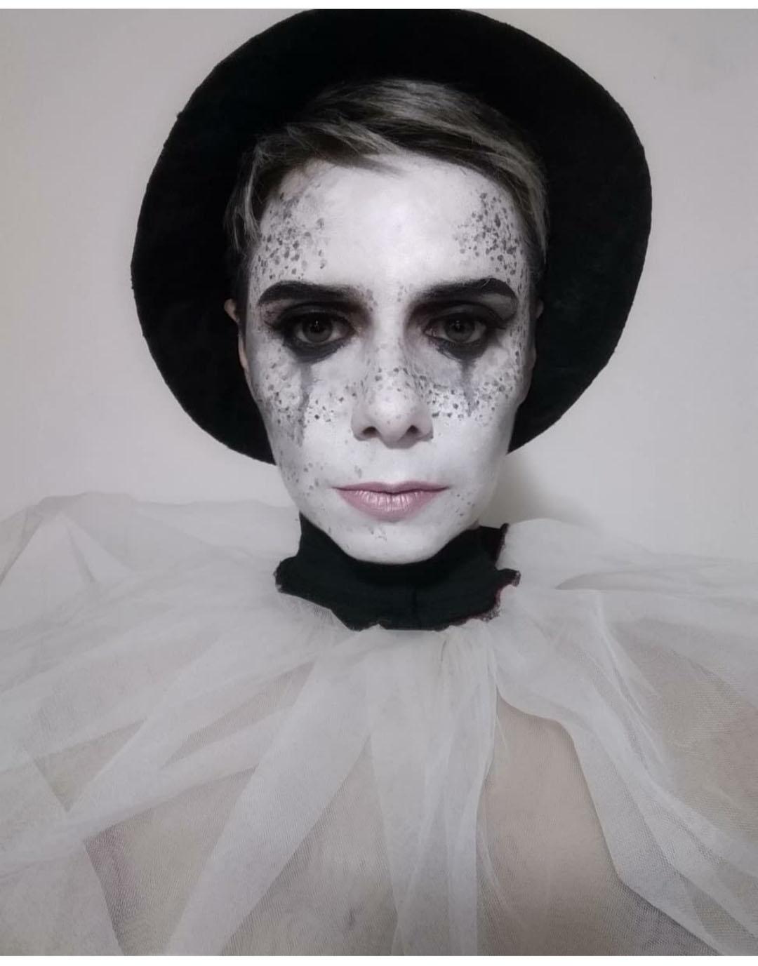Pierrot make up Halloween